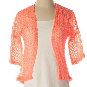 Disney | orange chevron cardigan